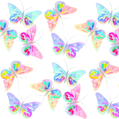 butterfly garden fabric by erinanne on Spoonflower - custom fabric
