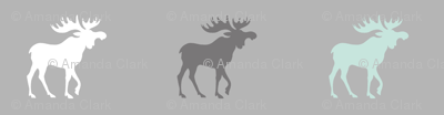 Big Moose - mint, white and greys -