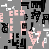 letter play - wordy pink/black/gray