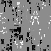 letter play - edited black/white/gray