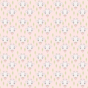 tiny giraffes-and-leaves-on-soft-pink