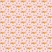 tiny fox-with-pink-rosebuds