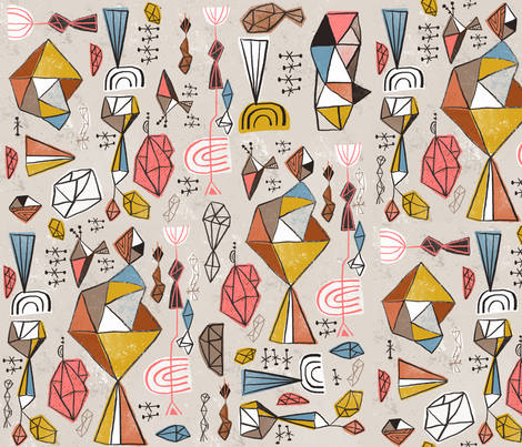 Rather geodesic fabric by skbird on Spoonflower - custom fabric