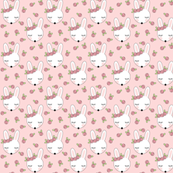 tiny bunnies-with-pink-rosebuds