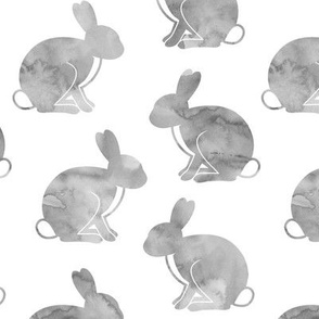 "3"" watercolor bunnies 