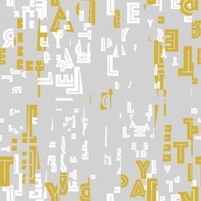 letter play - wordy citron/white/fog