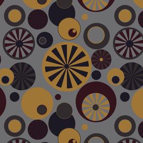 Circle Frenzy - Grey - Large - Retro