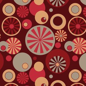 Circle Frenzy - Red - Large - Retro
