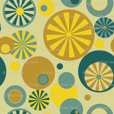 Circle Frenzy - Yellow - Large - Retro