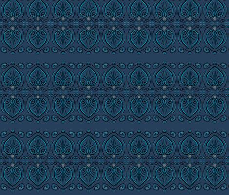 art deco leaf fabric by kegilligan-smith on Spoonflower - custom fabric