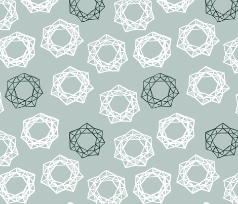Geodesic Wreaths fabric by janetdrummond on Spoonflower - custom fabric