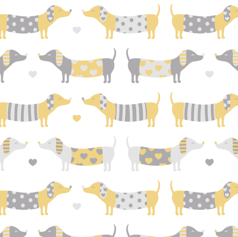 Sausage Dogs fabric by innamoreva on Spoonflower - custom fabric