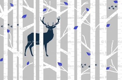 walk in the woods - navy deer