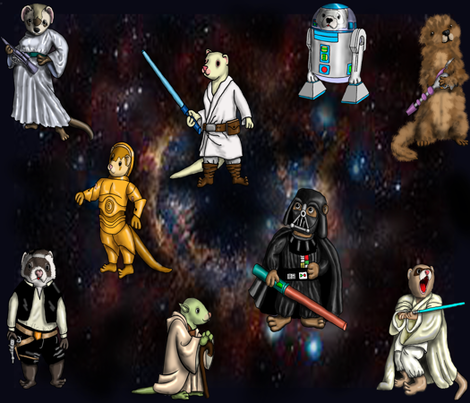 Star_Wars_Background_2 fabric by deva_kolb on Spoonflower - custom fabric