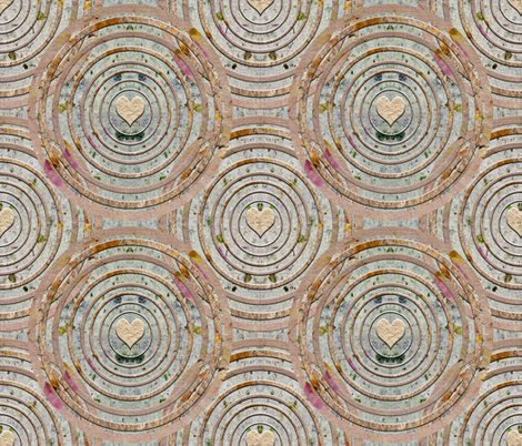Mandala of Caring fabric by anniedeb on Spoonflower - custom fabric