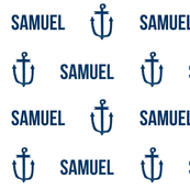 custom name anchor fabric