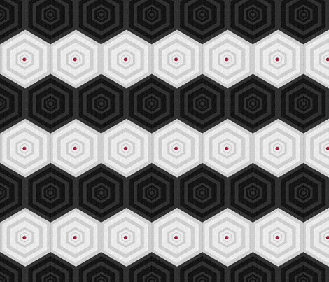 Red Dot (horizontal) fabric by anniedeb on Spoonflower - custom fabric