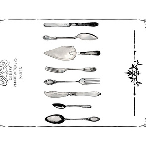 Eclectic Treasures Cutlery tea towel