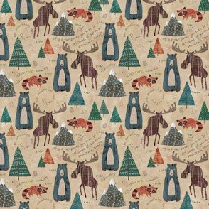 Mountain Animals (Mini Size)