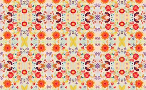 freshfloral fabric by marigoldpink on Spoonflower - custom fabric