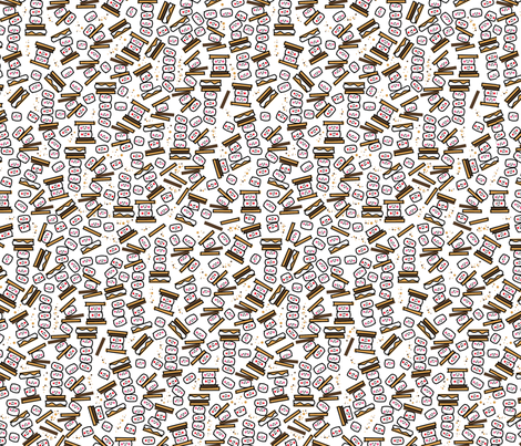 tiny smores repeat fabric by alohababy on Spoonflower - custom fabric