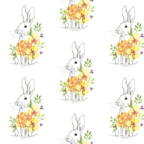 Ink Rabbit Floral