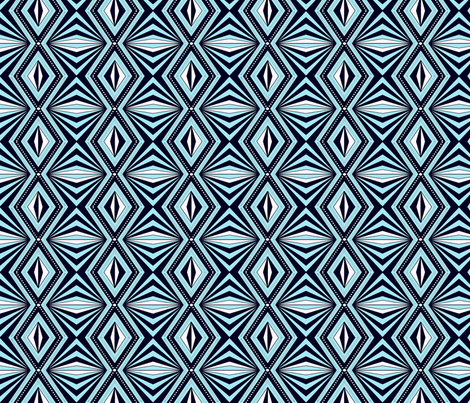 Geo Optical blue sewindigo fabric by sewindigo on Spoonflower - custom fabric