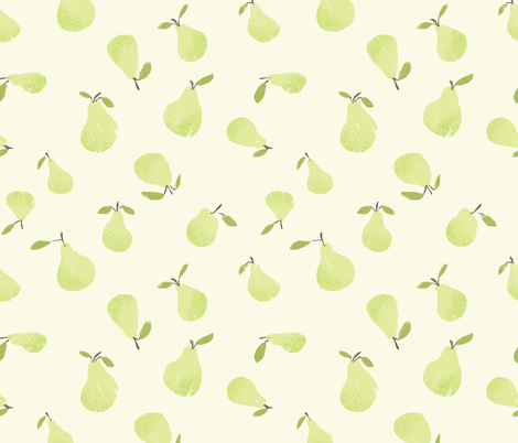 Pears fabric by jessgrady on Spoonflower - custom fabric