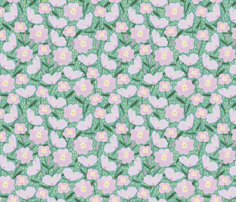 Primrose on Aqua fabric by jessgrady on Spoonflower - custom fabric