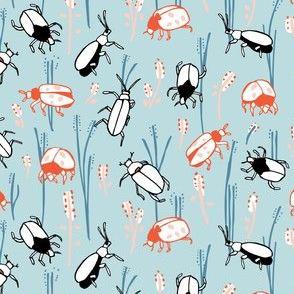 Bugs in blue