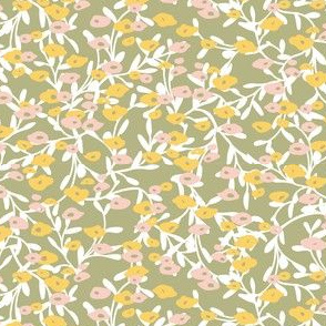 Flower patch green