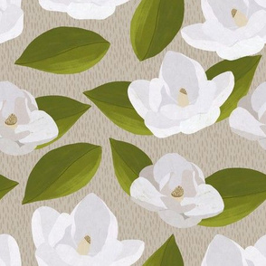 Magnolias on Tan