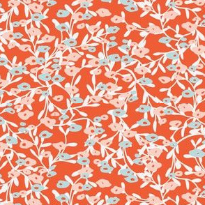 Flower patch in red and pink