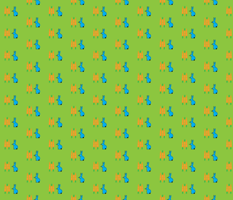 Rabbit & Carrots fabric by cricketstudioinc on Spoonflower - custom fabric