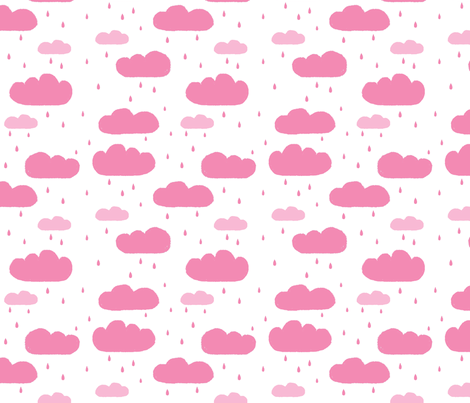 Pink Clouds  fabric by lenazembrowskij on Spoonflower - custom fabric