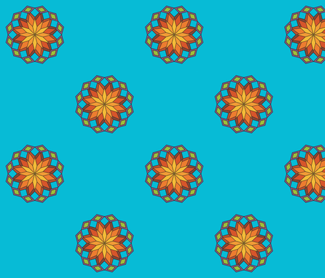 Sunburst Mandala fabric by anniecdesigns on Spoonflower - custom fabric