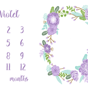 milestone blanket  - lavender florals