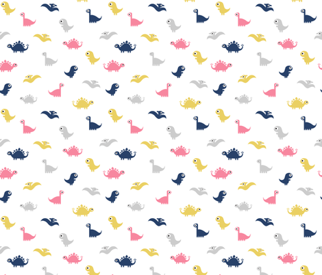 Dino Print fabric by shelbyallison on Spoonflower - custom fabric