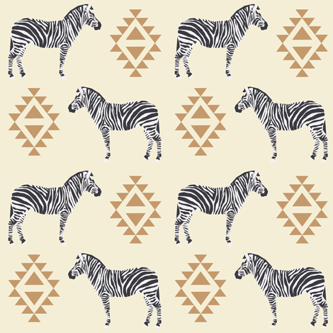 zebra fabric safari animals fabric nursery baby design neutral fabric by charlottewinter on Spoonflower - custom fabric