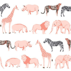 safari animals fabric safari nursery design light blush nursery