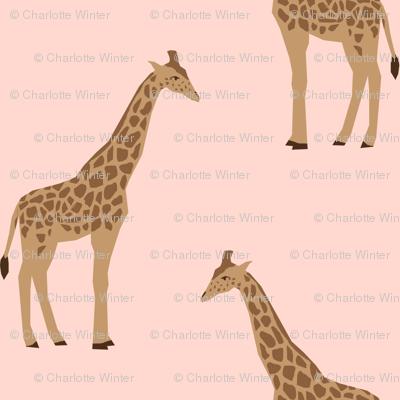 giraffe fabric safari animals nursery fabric baby nursery neutral