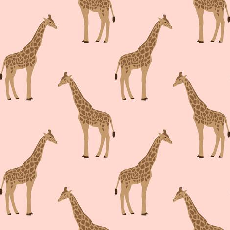 giraffe fabric safari animals nursery fabric baby nursery neutral fabric by charlottewinter on Spoonflower - custom fabric