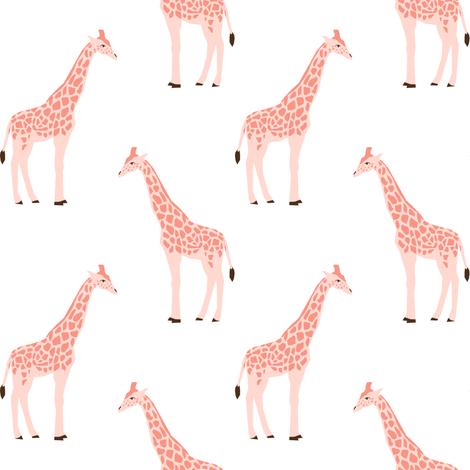 giraffe fabric safari animals nursery fabric baby nursery blush fabric by charlottewinter on Spoonflower - custom fabric
