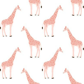 giraffe fabric safari animals nursery fabric baby nursery blush
