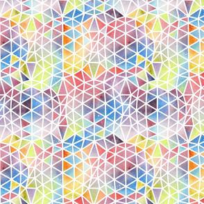 Geodesic Watercolour Spheres