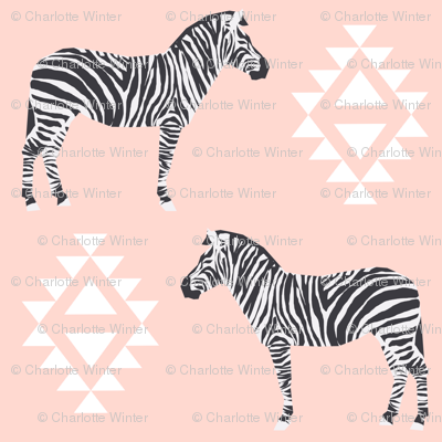 zebra fabric safari animals fabric nursery baby design pink