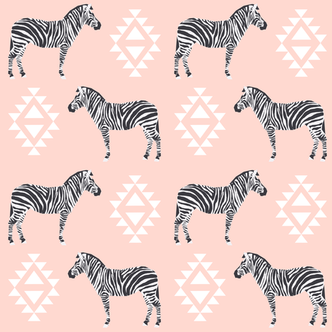 zebra fabric safari animals fabric nursery baby design pink fabric by charlottewinter on Spoonflower - custom fabric
