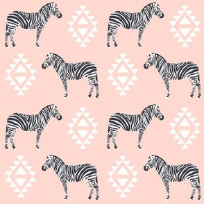 zebra fabric safari animals fabric nursery baby design pink