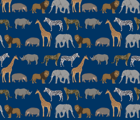 Safari animals fabric safari nursery design navy nursery for Safari fabric for nursery