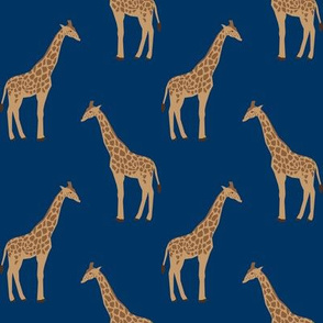giraffe fabric safari animals nursery fabric baby nursery navy